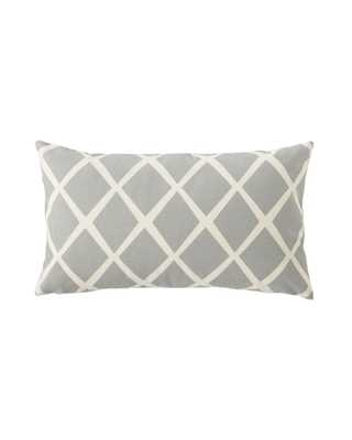 """Diamond Pillow Cover - Fog - 12"""" x 21"""" - Serena and Lily"""