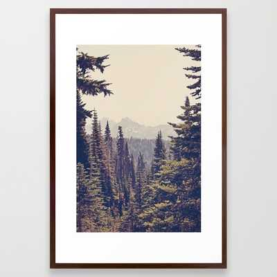 "FRAMED ART PRINT	/ CONSERVATION WALNUT LARGE (GALLERY) (26"" X 38"") - Society6"