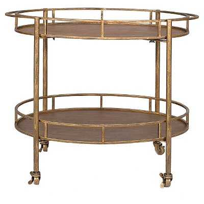 Oval 2-Tier Bar Cart on Casters - Target