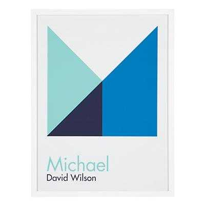 Personalized Abstract Wall Art (Blue) - Land of Nod