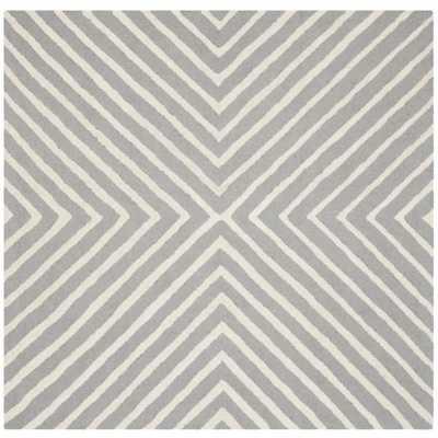 Safavieh Handmade Cambridge Silver/ Ivory Wool Rug (10' Square) - Overstock