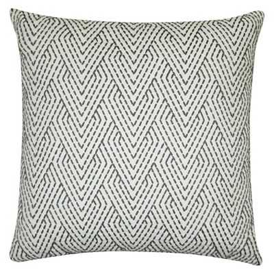 "Thresholdâ""¢ Gray Embroidered Pillow 18""x18"" with polyester fill - Target"