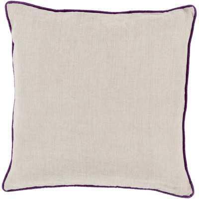 Franklin Bordered Linen Throw Pillow by Beachcrest Home - Wayfair