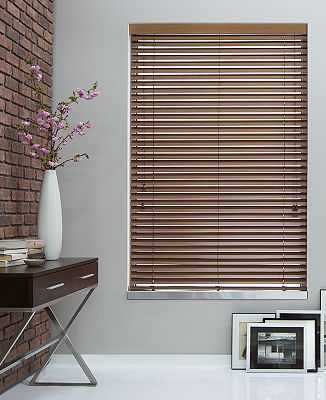 """2"""" Wood Blinds - White - 58""""L  x 46""""W - The Shade Store"""