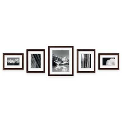 "Swing Designâ""¢ 5-Piece Frame Gallery in Espresso - Bed Bath & Beyond"