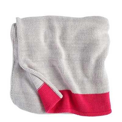 Pink Underline Blanket - Land of Nod