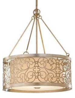Arabesque 4-Light Pendant, Silver Leaf - One Kings Lane