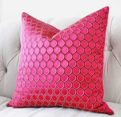 Geometric Pillow Fuchsia Cover - Etsy