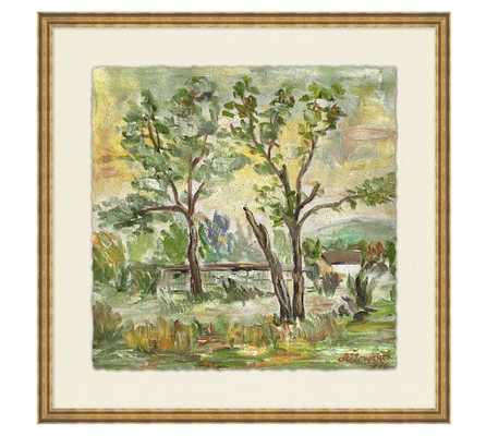 Behind the Trees Wall Art - 18x18 - Framed - Pottery Barn