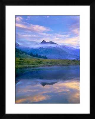 """Ruby Range reflected in the Slate River, Colorado - 36"""" x 44"""" - Framed - Photos.com by Getty Images"""