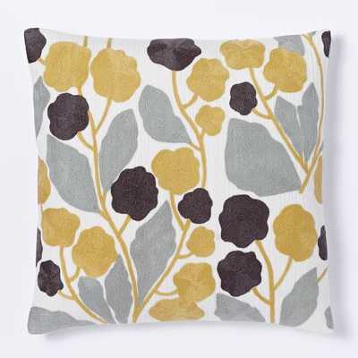 Crewel Blossom Pillow Cover - - West Elm
