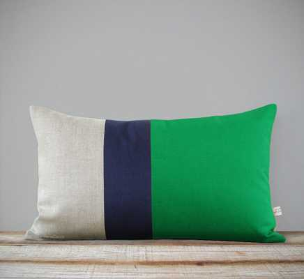 Lumbar Color block Pillow Cover - Etsy