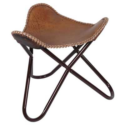 BUTTERFLY STOOL / FOOT REST ANTIQUE BROWN - Overstock