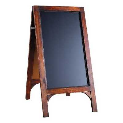A&B Home Wood Frame Double Sided Black Board Stand Stained Wood With Blackboard - Target