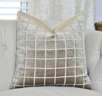 Modern Neutral Belgium Velvet Pillow Cover, 17x17 - Taupe - Insert sold separately - Etsy