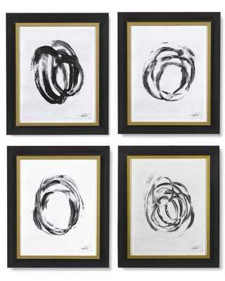 Abstract Brushstrokes, I / Set of 4 - Williams Sonoma
