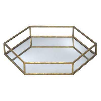 "Hexagon Gold Mirror Tray - Thresholdâ""¢ - Target"