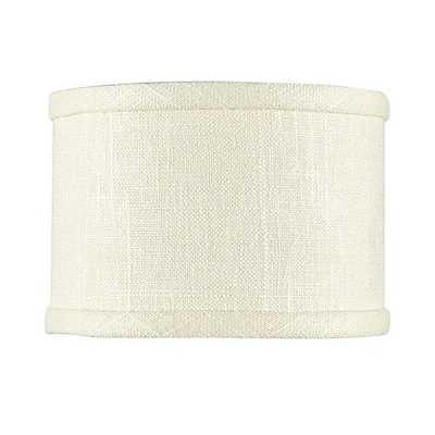 Linen Drum Chandelier Shade - White - Ballard Designs