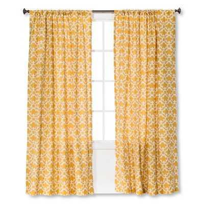"Thresholdâ""¢ Farrah Fretwork Curtain Panel- 54.000W x 84.000L - Target"