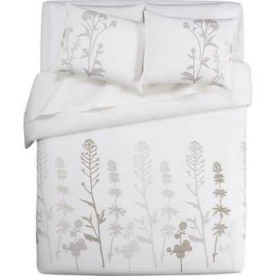 Woodland Natural King Duvet Cover - Crate and Barrel