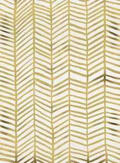 Gold Herringbone - Society6