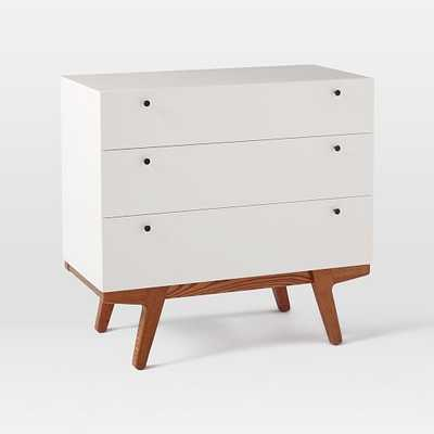 Modern 3-Drawer Dresser, White Lacquer - Domino