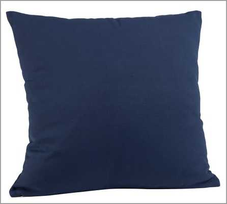 "Monogrammable Indoor/Outdoor Pillow - Ink Blue - 22"" square - Polyester fill - Pottery Barn"