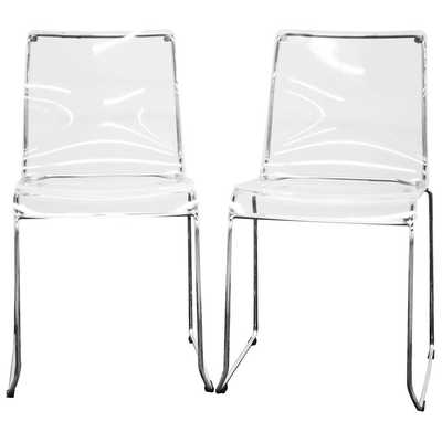 Lino Stackable Transparent Clear Acrylic Dining Chair - dcgstores.com