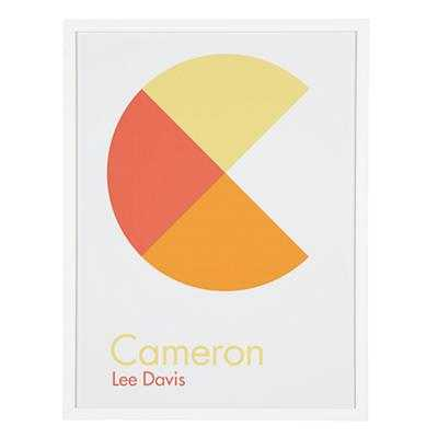 Personalized Abstract Wall Art (Orange) - Land of Nod
