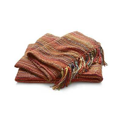 Shelby Orange Throw - Crate and Barrel