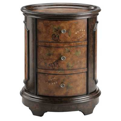 Autumn Oval 3-drawer Accent Chest - Overstock