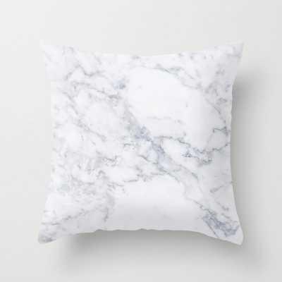 White Marble Pillow white marble - Etsy
