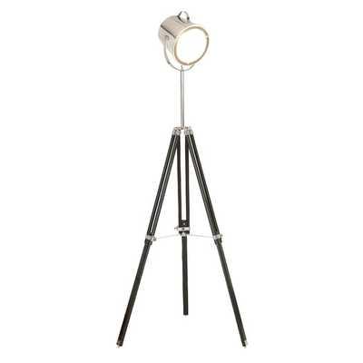 Metal Wood Glass Studio Floor Lamp - AllModern