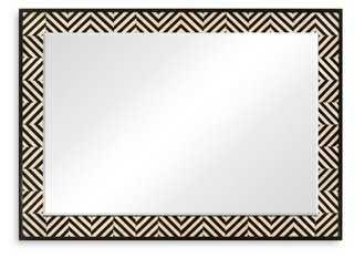 Cherie Wall Mirror, Black - One Kings Lane