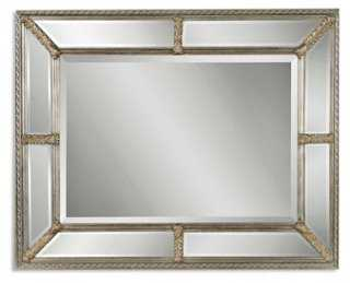 Candelaria Oversize Mirror, Champagne - One Kings Lane
