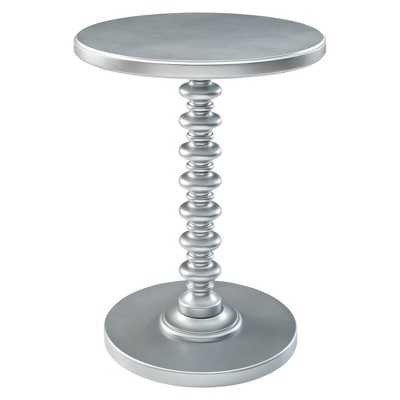 Powell Round Spindle Table - Silver - Target