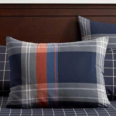 Walker Plaid Standard Sham - Orange - Insert sold separately - Pottery Barn Teen