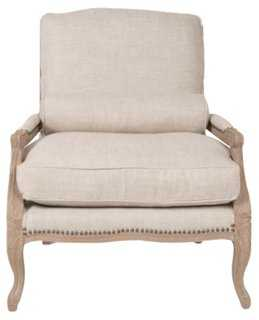 Abramo Club Chair, Bisque - One Kings Lane