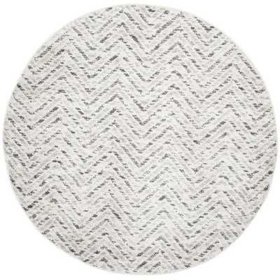 Safavieh Adirondack Ivory/ Charcoal Rug (6' Round) - Overstock