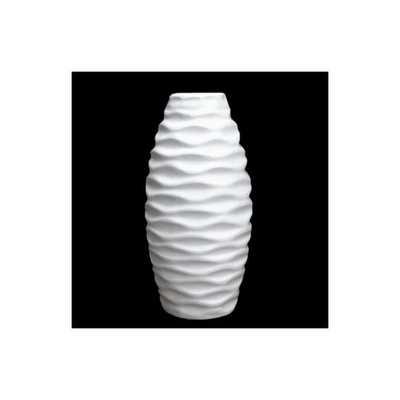 """Embossed Wave Vase -12""""H - AllModern"""