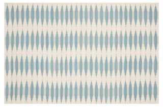 Edith Flat-Weave Rug, Sky - One Kings Lane