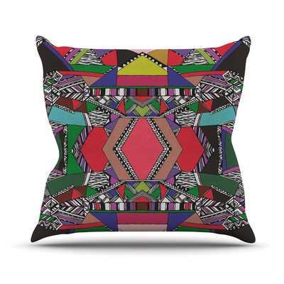 African Motif Throw Pillow - 16x16, With Insert - Wayfair