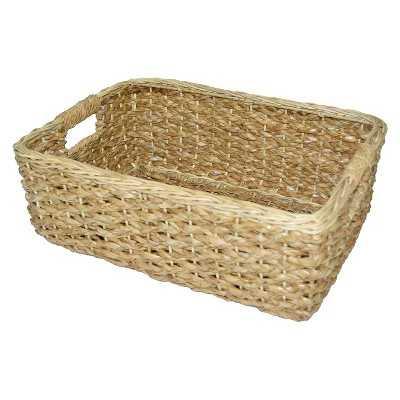 Short Seagrass Rectangular Wicker Storage Basket - Target