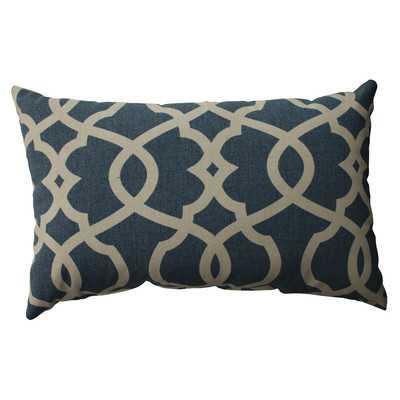 """Mahoney Cotton Lumbar Throw Pillow - Blue - 11.5"""" H x 18.5"""" W x 5"""" D - Eco-fill - Wayfair"""