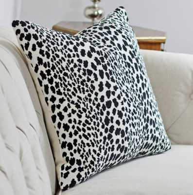 "Animal Print Pillow- 18"" x 18""- Black & Off White-  Insert Sold Separately - Etsy"