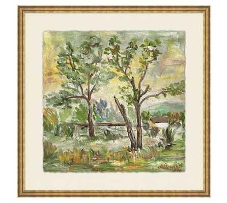 Behind the Trees Wall Art - 18x18 - Framed - Pottery Barn