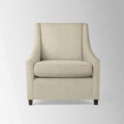 Sweep Armchair - Brushed Heathered Cotton, Flax - West Elm