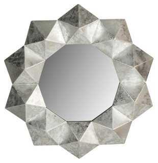 Maritza Wall Mirror, Silver - One Kings Lane