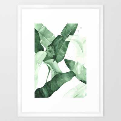 "FRAMED ART PRINT/ VECTOR WHITE MEDIUM (GALLERY) (20"" X 26"") - Society6"