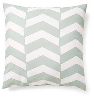 "Chevron 20x20 Outdoor Pillow, Green- 20"" x 20""- Polyester insert - One Kings Lane"